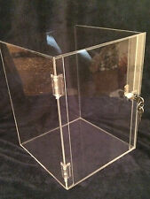 Acrylic Display Case  10 x 10 x 16.5  Acrylic Counter Top (revolve avail)