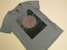 Boss Orange by Hugo Boss TAKE OFF Wash Graphic T-shirt / Blue / Small