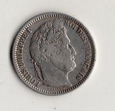 TRES RARE 2 FRANCS LOUIS PHILIPPE ARGENT 1831 W @ LILLE @ BELLE QUALITE @ SILVER