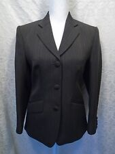 Women's Fitted Brown Pinstripe Dress Suit Jacket/Blazer/Coat (Read for Size)