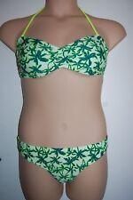 M&S Bandeau Bikini Set Palm Trees  Top Size 10 Bottoms Size 12  BNWT