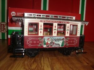 LGB 36019 RED & WHITE 2-AXLE 2019 CHRISTMAS PASSENGER CAR NEW IN BOX FREE SLEEVE