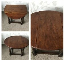 Vintage Oak Swivel Top Side Occasional Table
