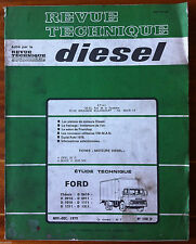 RTA Diesel du 11/1979; FORD CHassis D 0610-0910-0911-1010-1111-1211-1311