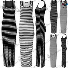 Viscose Scoop Neck Striped Maxi Dresses for Women