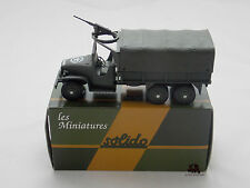 Miniature Collection Métal Tank SOLIDO Camion GMC Tourelle Mitrailleuse France