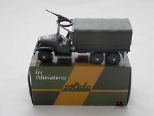 Miniature Collection Métal Tank SOLIDO Camion GMC Tourelle Mitrailleuse France