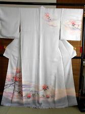 "Japanese Silk kimono  ""TSUKESAGE""  ,  short sleeves, 65"", a flowering planta,399"