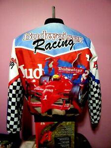 Vintage Budweiser Racing Chalk Line Fanimation Jacket Size Large