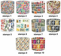 Lampshades Ideal To Match Vintage Postage Stamps Cushions, Duvets & Curtains.