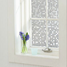 Frosted Privacy Window Glass Static Adhesive Film Sticker 45x100cm Lattice