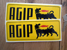 AGIP Old Style Oblong Car STICKERS 195mm Pair Racing F1 Ferrari Alfa Sportscar