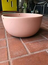 Mid Century Light Pink Hanging Gainey Planter California Architectural Pottery