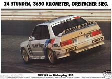 BMW E30 M3 DTM BMW Motorsport Large poster print 1990 24 Hour