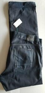 HUDSON LA Men Slouchy Straight Stretch Cotton Denim Jeans - 40x34 Dark Ink Blue