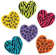 Pack of 12 - Coloured Animal Print Heart Erasers - Party Bag Fillers