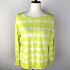 Joie S Emari Long-Sleeve Sweater Tie Dye Size Small Acid Lime Pullover Wool