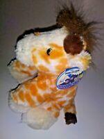 "MJC Purr-Fection Snuggle Ups Giraffe NEW 9"" Plush Stuffed Animal"