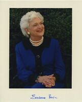 BARBARA BUSH SIGNED AUTOGRAPHED COLOR 8X10 PHOTO