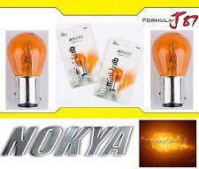 Nokya Light 1157 Orange Amber 27/8W Nok5211 Two Bulbs Front Turn Signal Upgrade