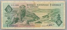 Congo 50 francs 01-01-1962