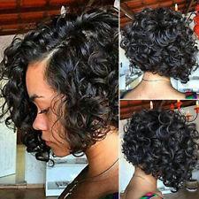 Brazilian Virgin Human Hair Wigs Short Bob Curly Lace Front Wig Real Hair Wigs