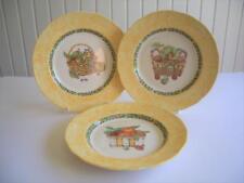 "Johnson Bros - 3 x 9"" Breakfast or Lunch Plates - Fruit Baskets - Unused?"
