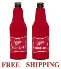 Miller High Life 2 Beer Bottle Koozie Huggie Coolie Coozie Cooler New