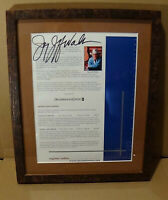"Jerry Jeff Walker Autograph 14""x12"" Signed & Framed 2001 Country Music Legend"