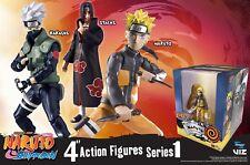 """Naruto Shippuden 4"""" Series 1 figure -Naruto, Kakashi, & Itachi Set of 3 - MIB"""