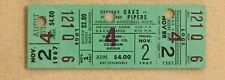 Oakland Oaks Pittsburgh Pipers Original 1967 ABA Game Ticket + Julius Erving Lot
