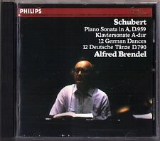 Alfred BRENDEL: SCHUBERT Piano Sonata D.959 12 Deutsche Tänze D.790 PHILIPS CD