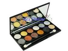 TECHNIC ELECTRIC EYES METALIX 12 COLOUR EYESHADOW PALETTE / COMPACT WITH MIRROR