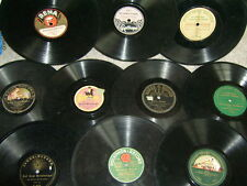 10 uralte Schellackplatten bis in die 20er-Jahre, 78upm 78rpm Record GRAMMOPHON
