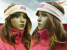 Nike Knitted  Headband Pink / Cream