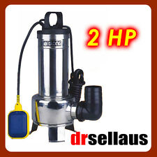 SUBMERSIBLE SEWAGE DIRTY WATER PUMP 2HP STAINLESS STEEL BODY