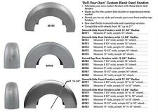 """9"""" WIDE STEEL FENDER BLANK  13 3/8 radius for 16"""" Wheel Chopper Pro Street"""