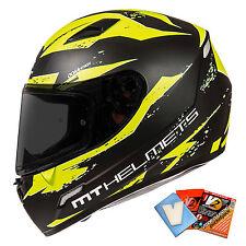 MT Mugello Vapour / Leopard Motorcycle Motorbike Helmet Crash Matt Black White