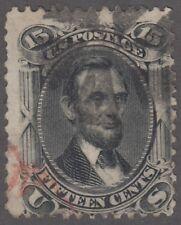 USA Scott #77  15 cent  Abraham Linclon black  F