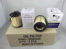 Lot 4  Engine Oil Filter SOE5436 Made In Korea Fits: GM GMC SAAB SATURN