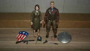 Marvel Legends Captain America & Peggy Carter Hasbro Figure COMPLETE