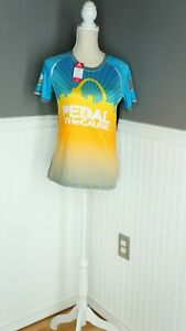 NEW PRIMAL Women's 2020 Pedal The Cause St. Louis Cycling Jersey Turquoise XS
