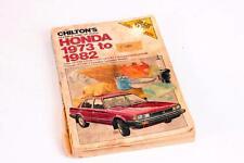 Honda Civic Accord Prelude 1973-1982 Chilton Repair & Tune Up Guide 1982