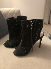 Kurt Geiger, peep toes shoe boot, black, Size 5/38