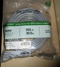 Belkin PureAV ~ 100ft HDMI Interface to DVI Video Cable