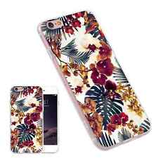 Red Flower Painting Pattern Ultra Thin Phone Case Capa for iPhone Samsung Huawei