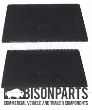 "*DAF TRUCK PLAIN BLACK RUBBER MUDFLAP 24"" X 12"" (609 x 304mm) PAIR BP83-109 X 2"
