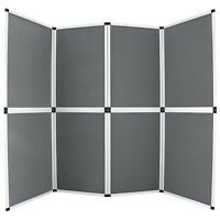 6'x8' Folding 8 Panels Trade Show Display Booth Advertising Panel Header Screen