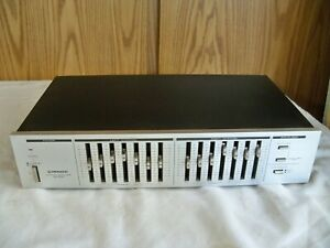 (H) Vintage Pioneer Model SG-540 7-Band Stereo Graphic Equalizer