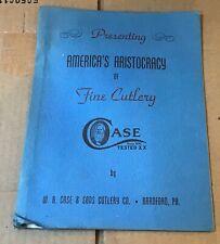Case Cutlery knife brochure  catalog #609